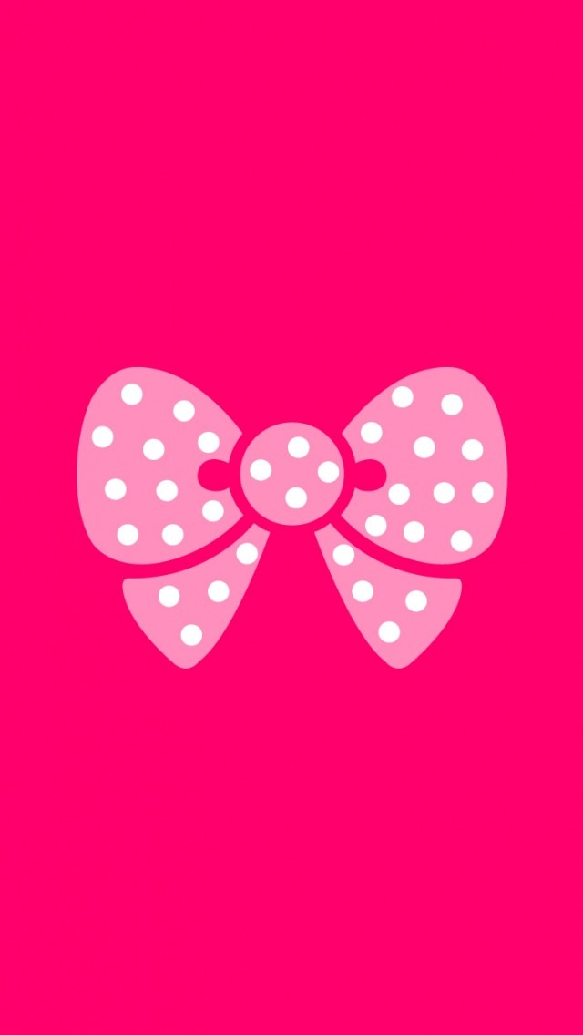 Love Wallpaper For Iphone 5c : Pink Bow Wallpaper - Free iPhone Wallpapers