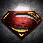 Superman Logo with Noise Background