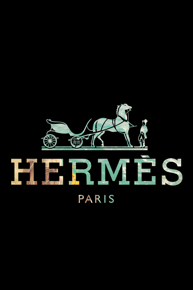 Hermes Paris Logo Wallpaper Free Iphone Wallpapers