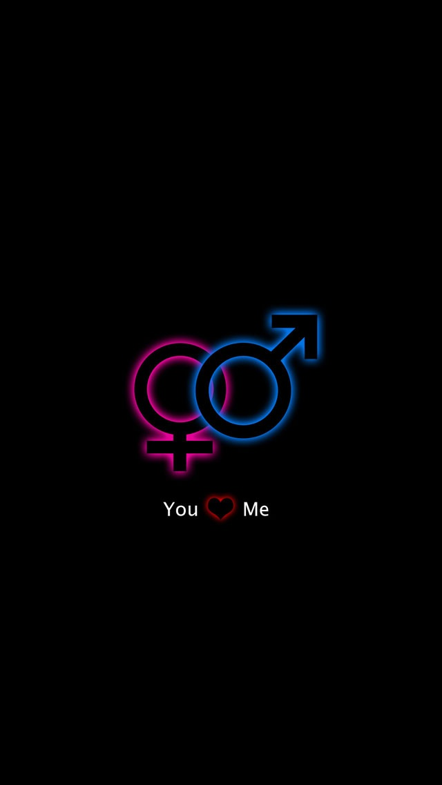 Love Wallpaper For Iphone 5c : Linked Gender Symbols Wallpaper - Free iPhone Wallpapers
