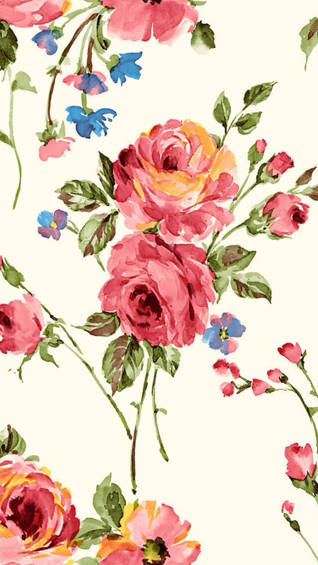 Vintage Painting Flowers Wallpaper  Free iPhone Wallpapers