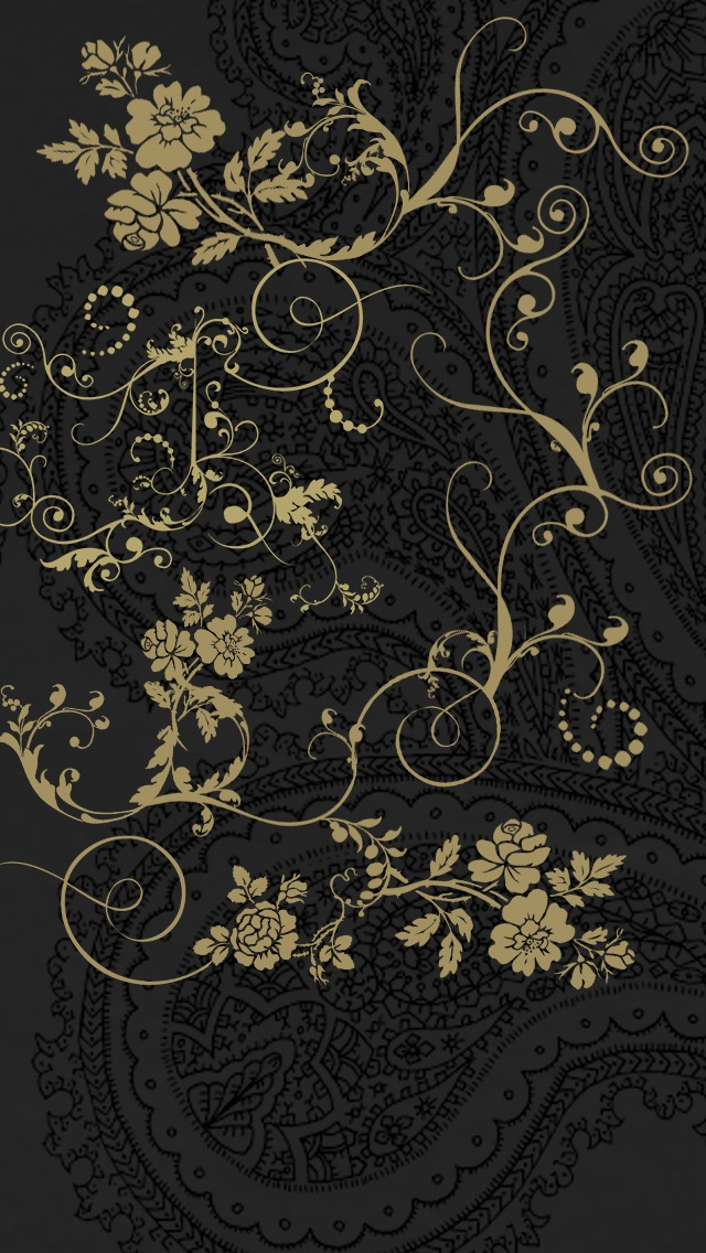 Dark classic floral patterns iphone 6 6 plus and iphone - Classic art wallpaper iphone 5 ...