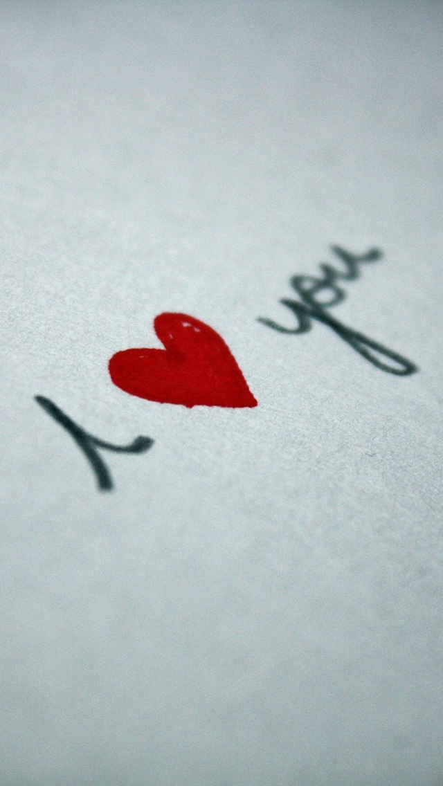 Love Wallpaper For Iphone 5c : Handwriting I Love You Wallpaper - Free iPhone Wallpapers