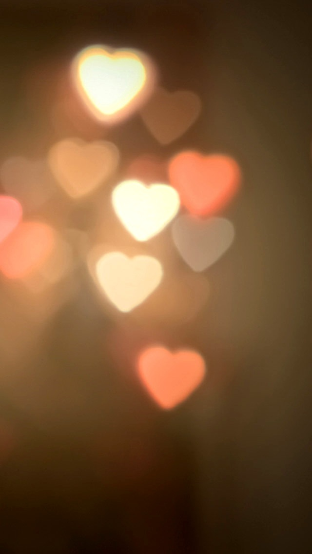 Love Wallpaper For Iphone 5c : Blurred Heart Halos Wallpaper - Free iPhone Wallpapers