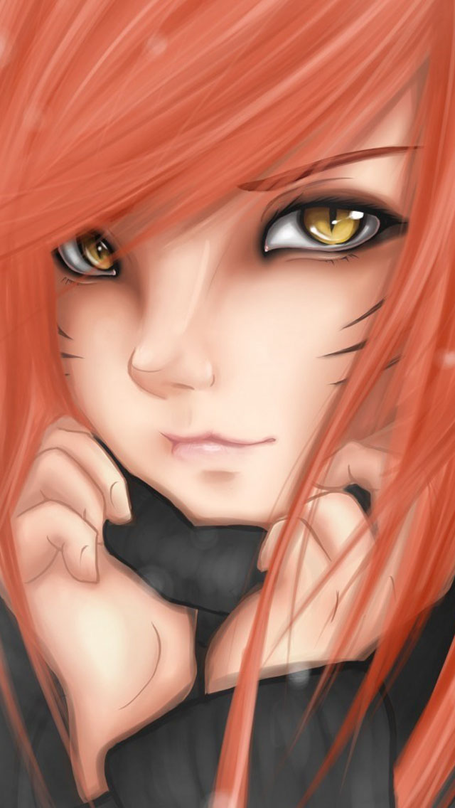 Cartoon Cat Girl Red Hair
