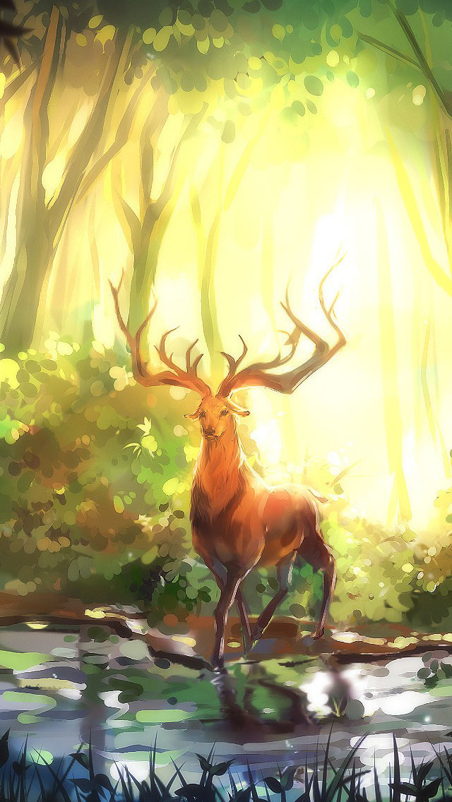 Fantasy Elk In The Forest