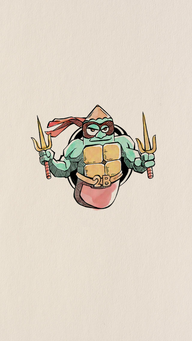 Funny Pencil Drawing Teenage Mutant Ninja Turtles Iphone
