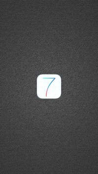 iOS 7 Logo with Grey Fabric Background