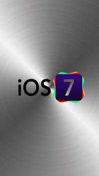 iOS 7 Logo with Metal Background