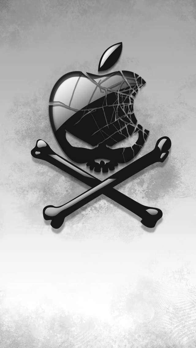 Broken Skull Apple Logo