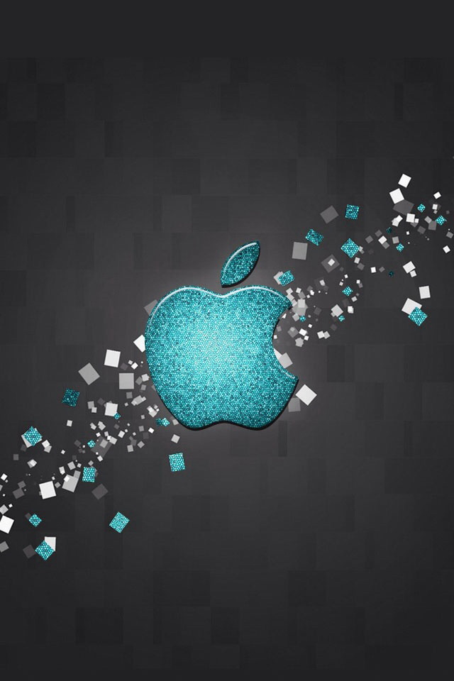 Glitter Blue Apple Logo