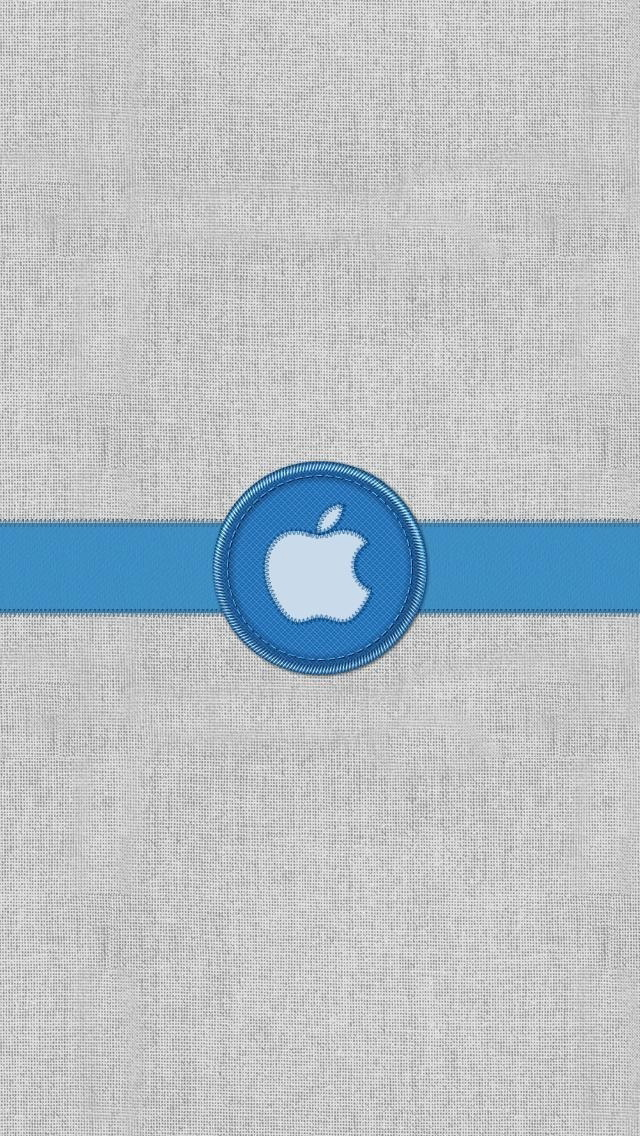 Blue Ribbon Apple Logo
