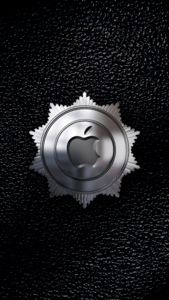 Metal Apple Logo Medal