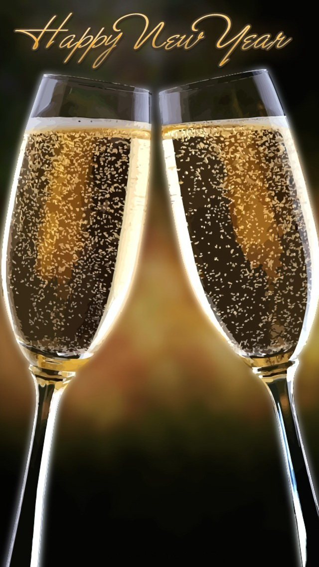 happy new year champagne