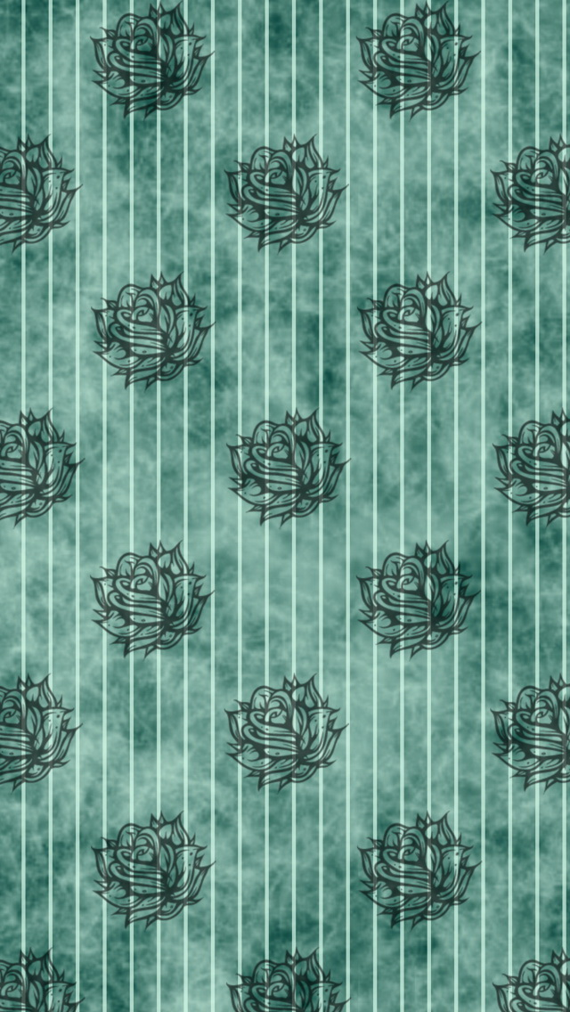 Striped Flowers Pattern