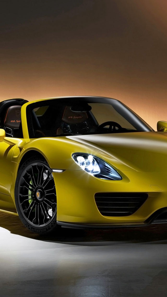 2014 porsche 918 spyder yellow wallpaper free iphone wallpapers. Black Bedroom Furniture Sets. Home Design Ideas