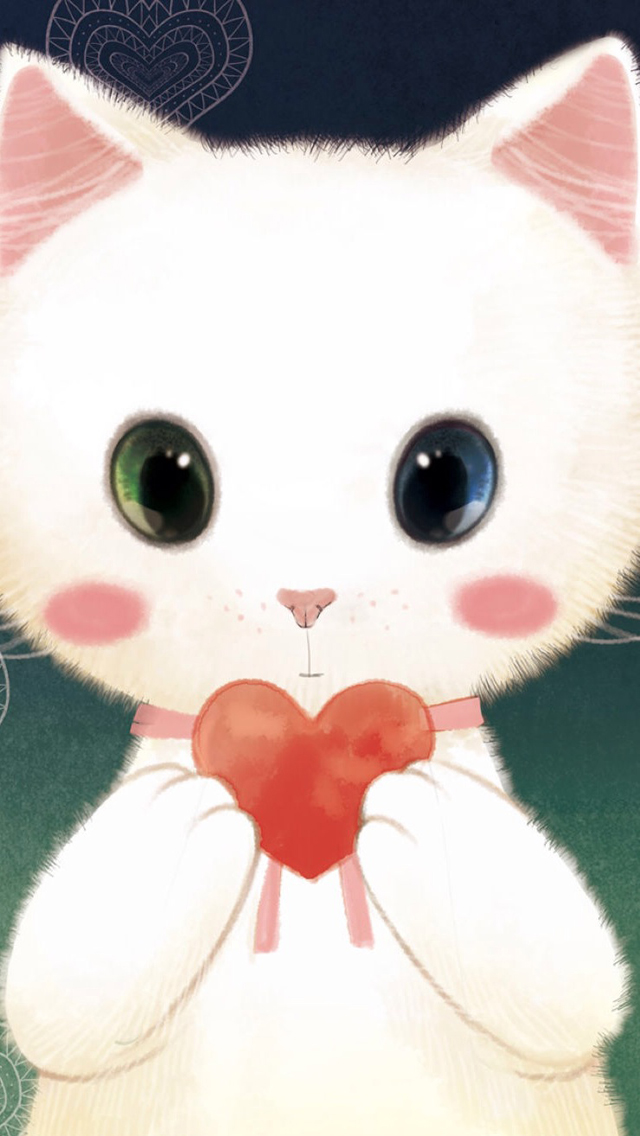 Love Heart Kitten
