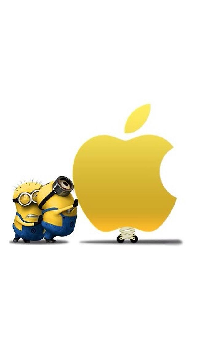 Minions Love Wallpaper For Iphone : Minions with Apple Logo iPhone 6 / 6 Plus and iPhone 5/4 ...