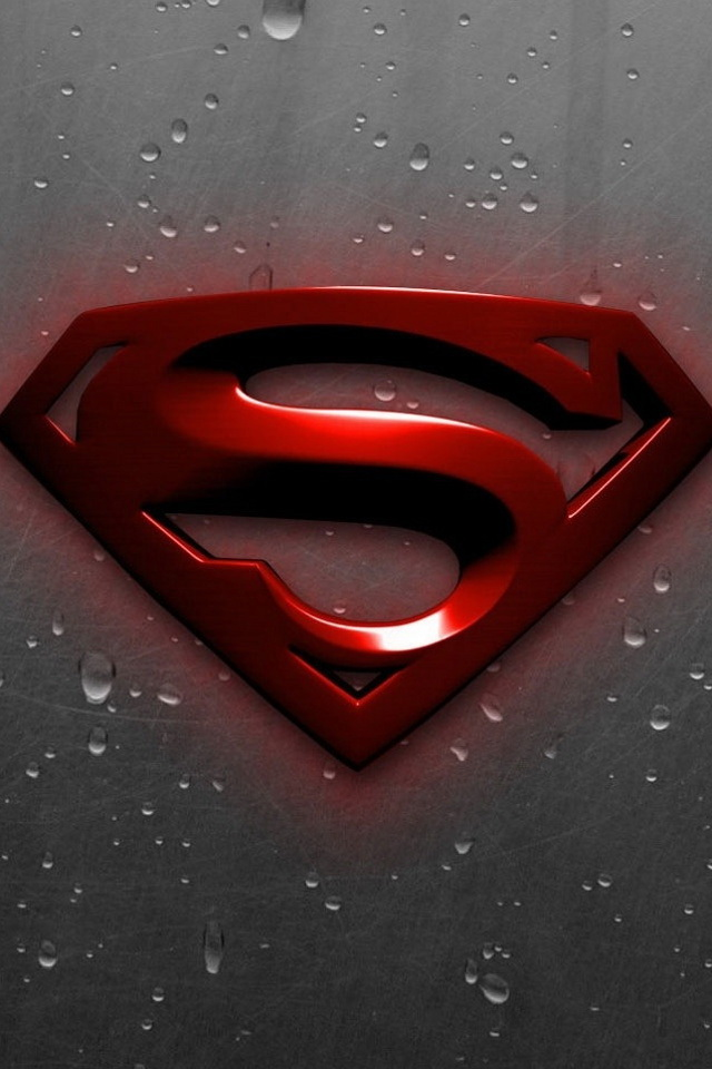 3d Red Superman Logo Iphone 6 6 Plus And Iphone 5 4 Wallpapers