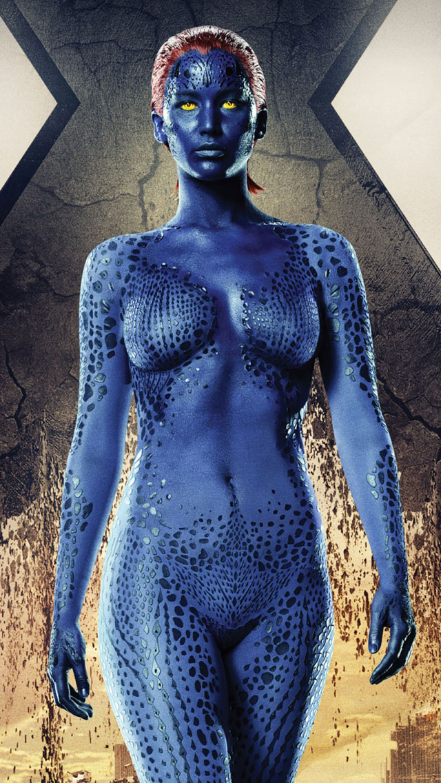 Jennifer Lawrence Mystique In X-Men Days of Future Past iPhone 5   5S    X Men Days Of Future Past Mystique Jennifer Lawrence