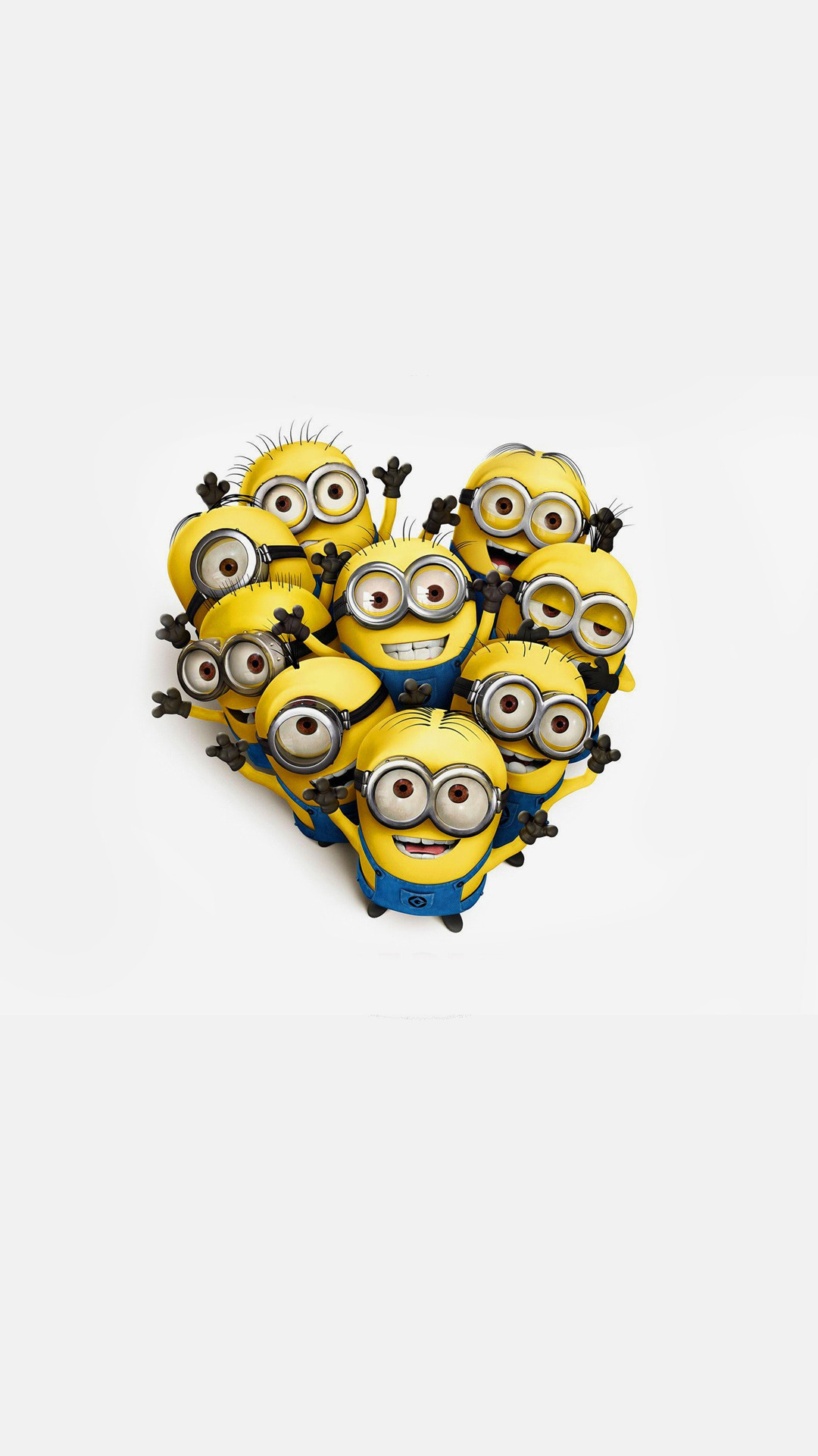 Minions Love Wallpaper For Iphone : Heart Of Minions iPhone 6 / 6 Plus and iPhone 5/4 Wallpapers